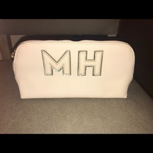 """Stoney Clover small pouch with """"MH"""" initials"""